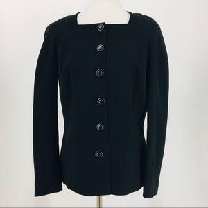 NWT Black Blazer Lafayette 148 Size 8